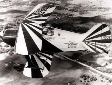 Skelton piloting Little Stinker. NASM #95-8289.