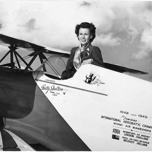Skelton in her Pitts Special S-1C, Little Stinker. NASM #95-8289.